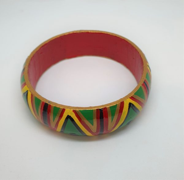 Timber Bangle - Reggae Colours Design 1 - Jewellery Unique - Lauren  Bowyer
